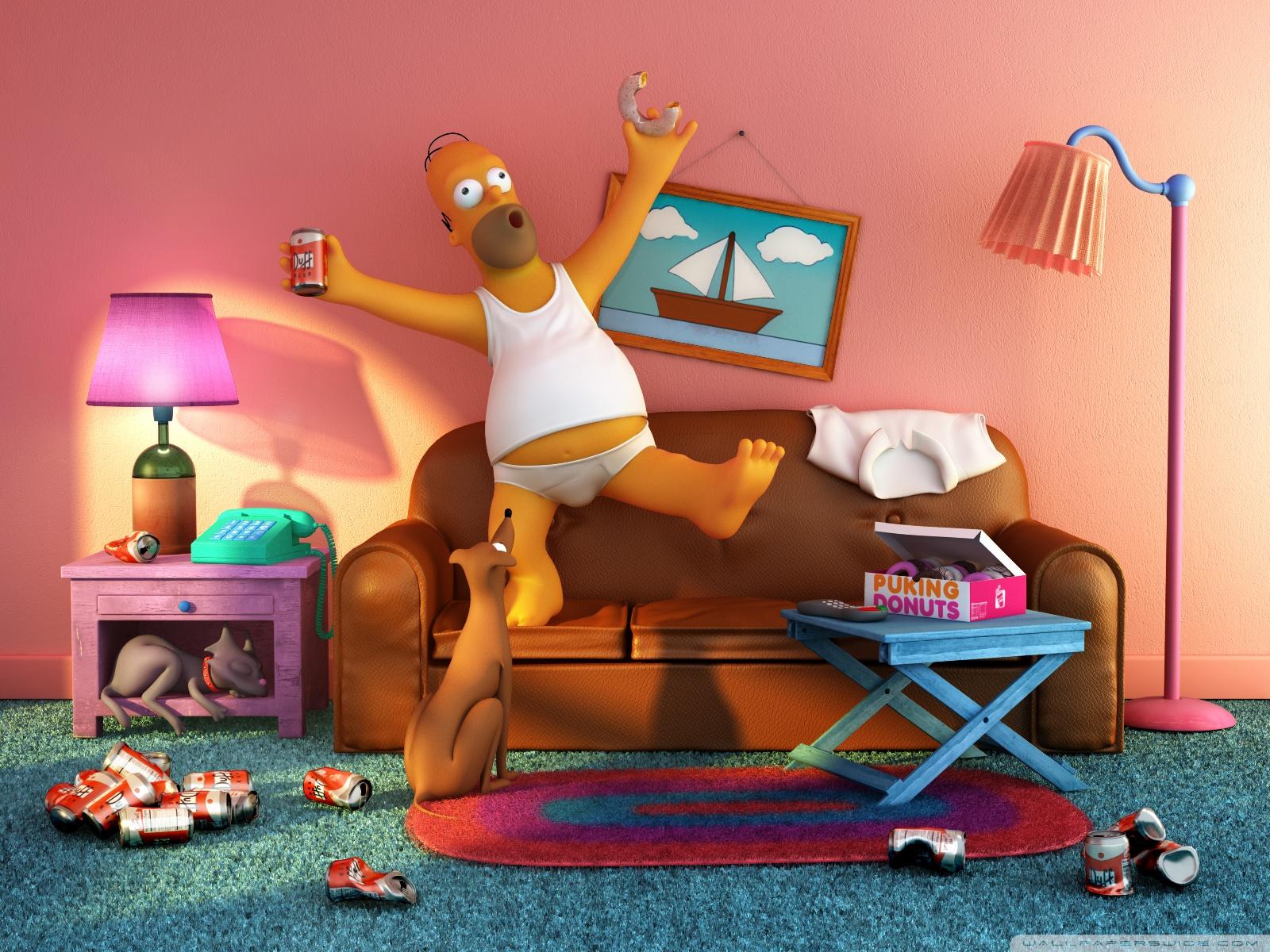 Xavi is blog 39 s grappige achtergronden grappige wallpapers for Simpsons wallpaper for bedroom