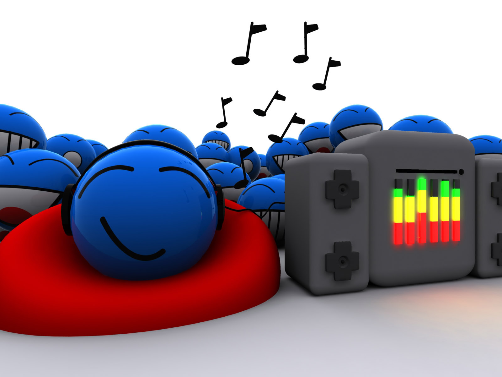 Smiley Full Hd Wallpaper And Achtergrond: 3D Achtergronden