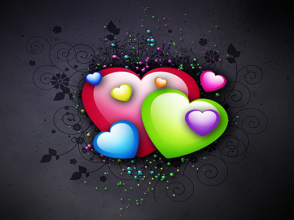 cool 3d colorful wallpaper love - photo #32