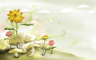 Lente achtergrond met bloemen
