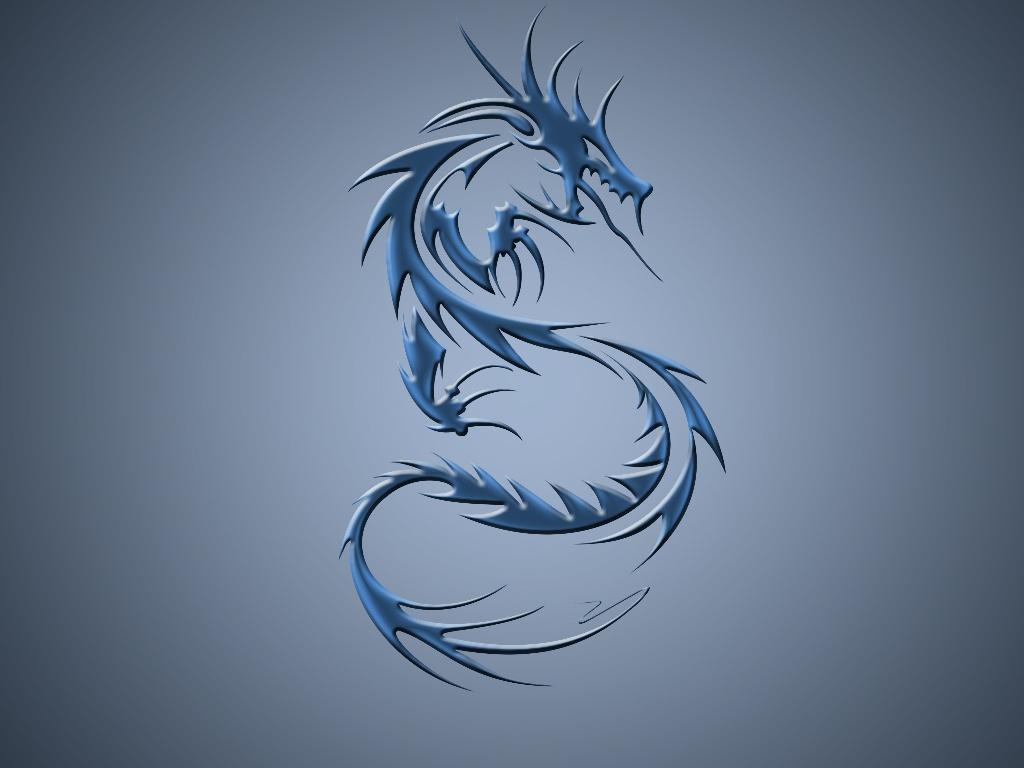 Windows XP Wallpaper Black Dragon