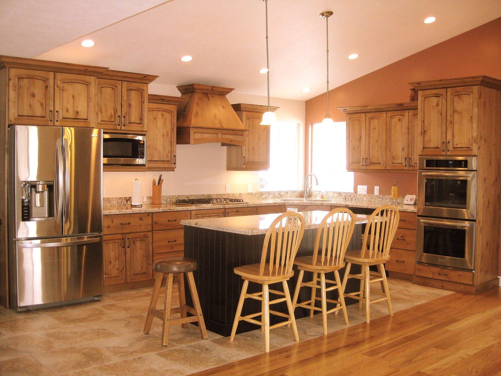 lec cabinets alder kitchen with bead board island. Black Bedroom Furniture Sets. Home Design Ideas