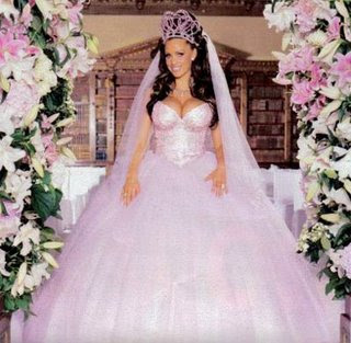 26778452e9e18 A UK TV station did a poll to find the worst celebrity wedding dresses.  Here are a few of the lowlights: