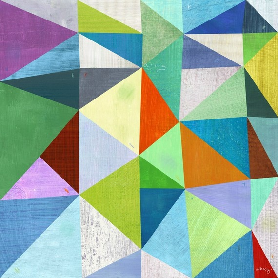 xoxo, lesley: triangle art