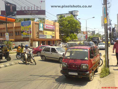 wrongly parked vehicle making traffic block in cochin mg road
