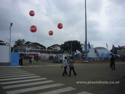 photograph of volvo ocean race 2008 race village setup at india cochin in the wellington island of ernakulam district kerala