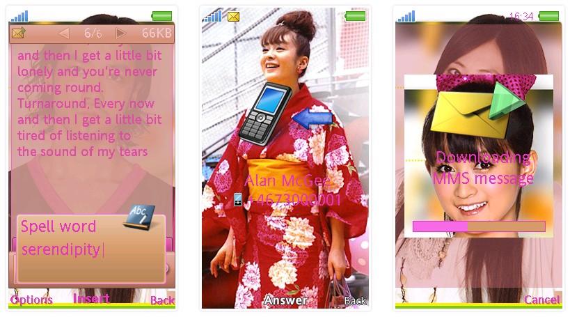 日劇「零秒出手」SonyEricsson手機主題for Aino﹝240x432﹞ | 索愛の手機主題