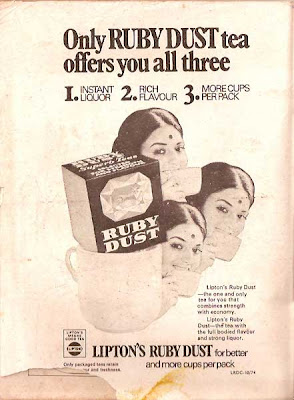 Only RUBY DUST Tea Offers You All Three 1INSTANT LIQUOR 2RICH FLAVOUR 3MORE CUPS PER PACK Liptons Ruby Dust The One And For That Combines