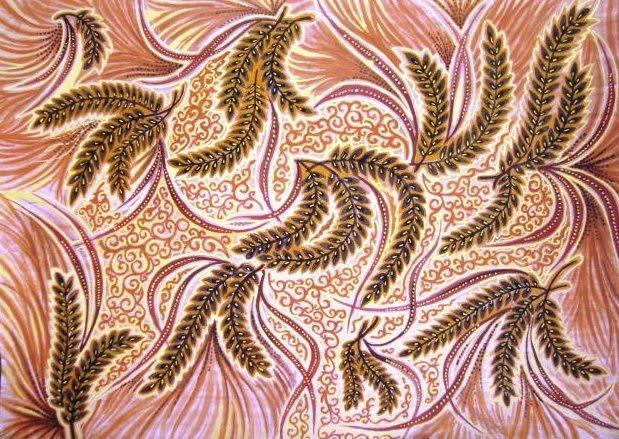Motif Batik Khas Bojonegoro Pari Sumilak (Sumber: nizarazur.blogspot.com)
