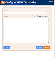 Add a Content - HTML code to Layout on Blogger.com