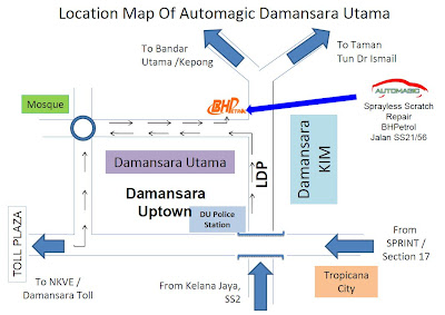 location map: Automagic Sprayless Scratch Repair Damansara Utama