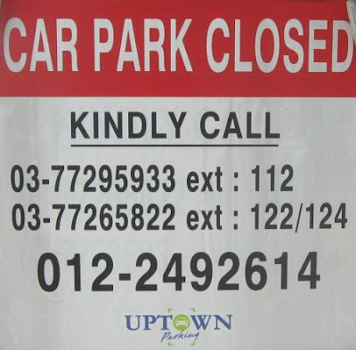 telephone numbers to call after office for DUCP Open Car Park