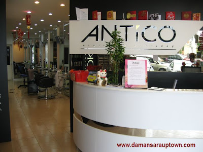 Antico Hair Saloon Damansara Utama Uptown reception