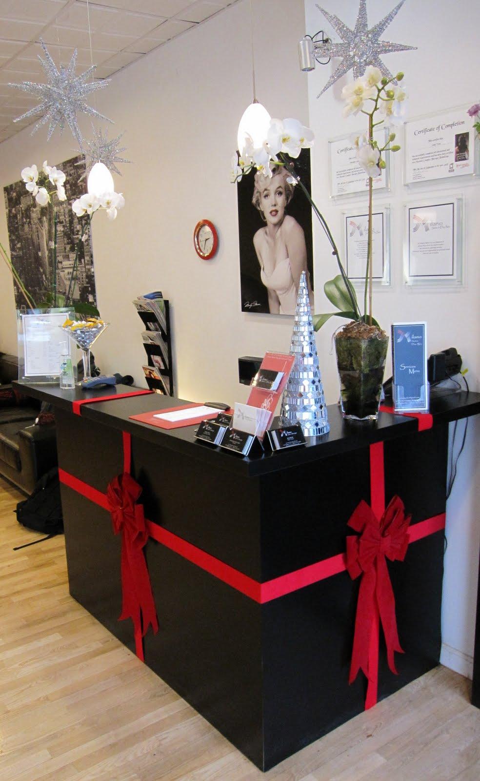 milano salon day spa holiday cheer november 2009. Black Bedroom Furniture Sets. Home Design Ideas