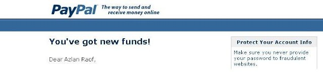 My first PayPal Payment