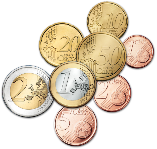 There Are Eight Euro Coins Ranging In Value From One Cent To Two Euros Each Is Divided Into A Hundred Cents The First Came Use 2002