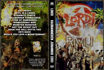 Rock Show Dvd Lordi Raumanmeren Festival 19 06 2003