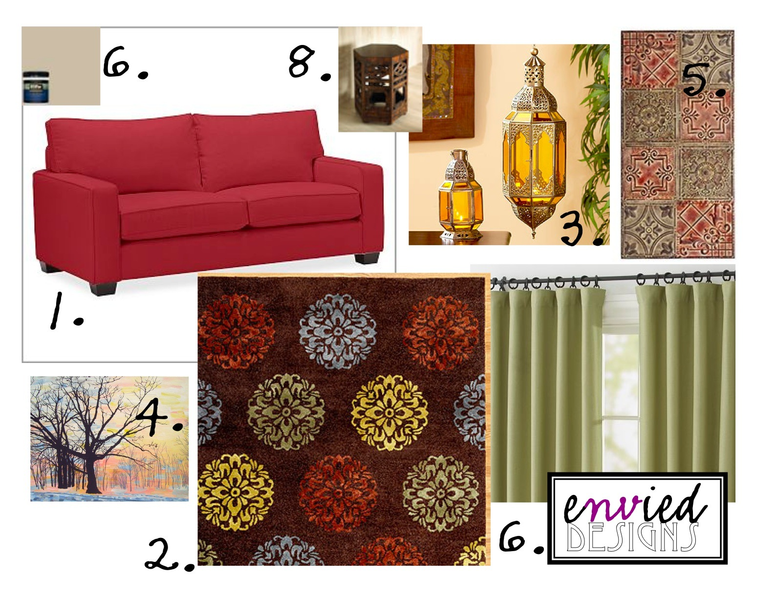 Envied Designs: Moroccan-inspired Living Room