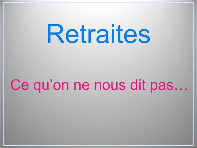 Nous Ne Les Oublierons Pas: Le Blog Du Syndicat CGT Sorin: RETRAITES : Ce Qu'on Ne