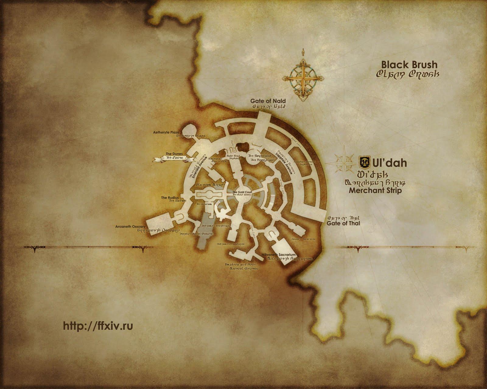 The Ishgardian: New image of Ishgard's map   ?