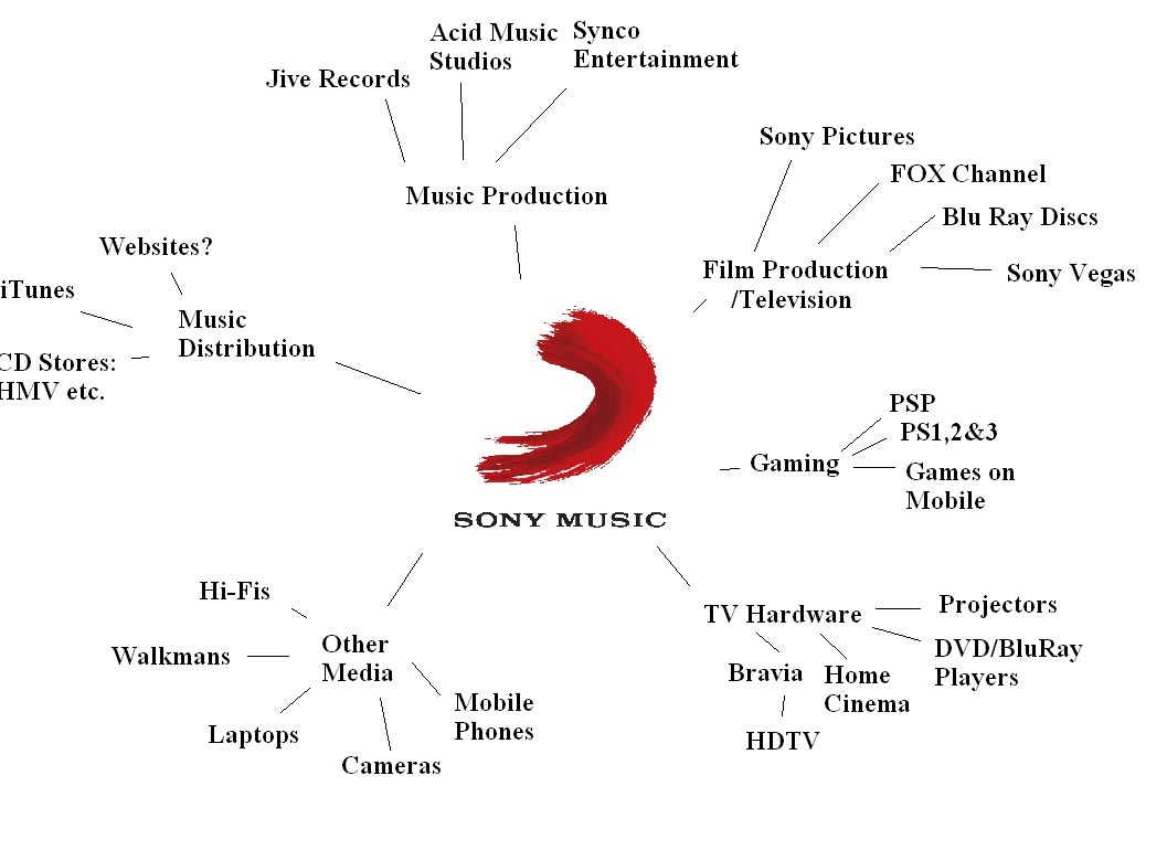 Music Audiences And Institutions Sony Music Spider Diagram