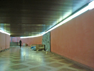 Por debajo de la plaza de Cibeles