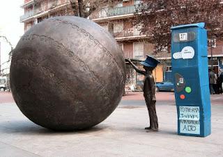 Monumento al controlador de parquímetros