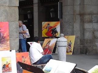 El futuro de los pintores de la Plaza Mayor