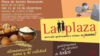 Planes para la Navidad.El mercado gastronómico de Jacinto Benavente