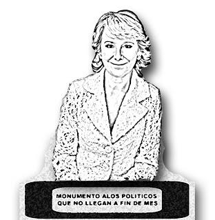 Una página web pide un monumento para Esperanza Aguirre