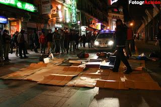 Dormida callejera para reinvindicar pisos vacios en Madrid