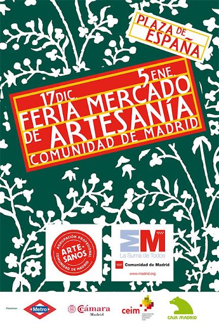 Feria Mercado de Artesanía de la Comunidad de Madrid 2011 en Plaza de España