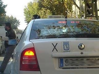 Manifestación de taxis en Madrid. 22 de febrero.