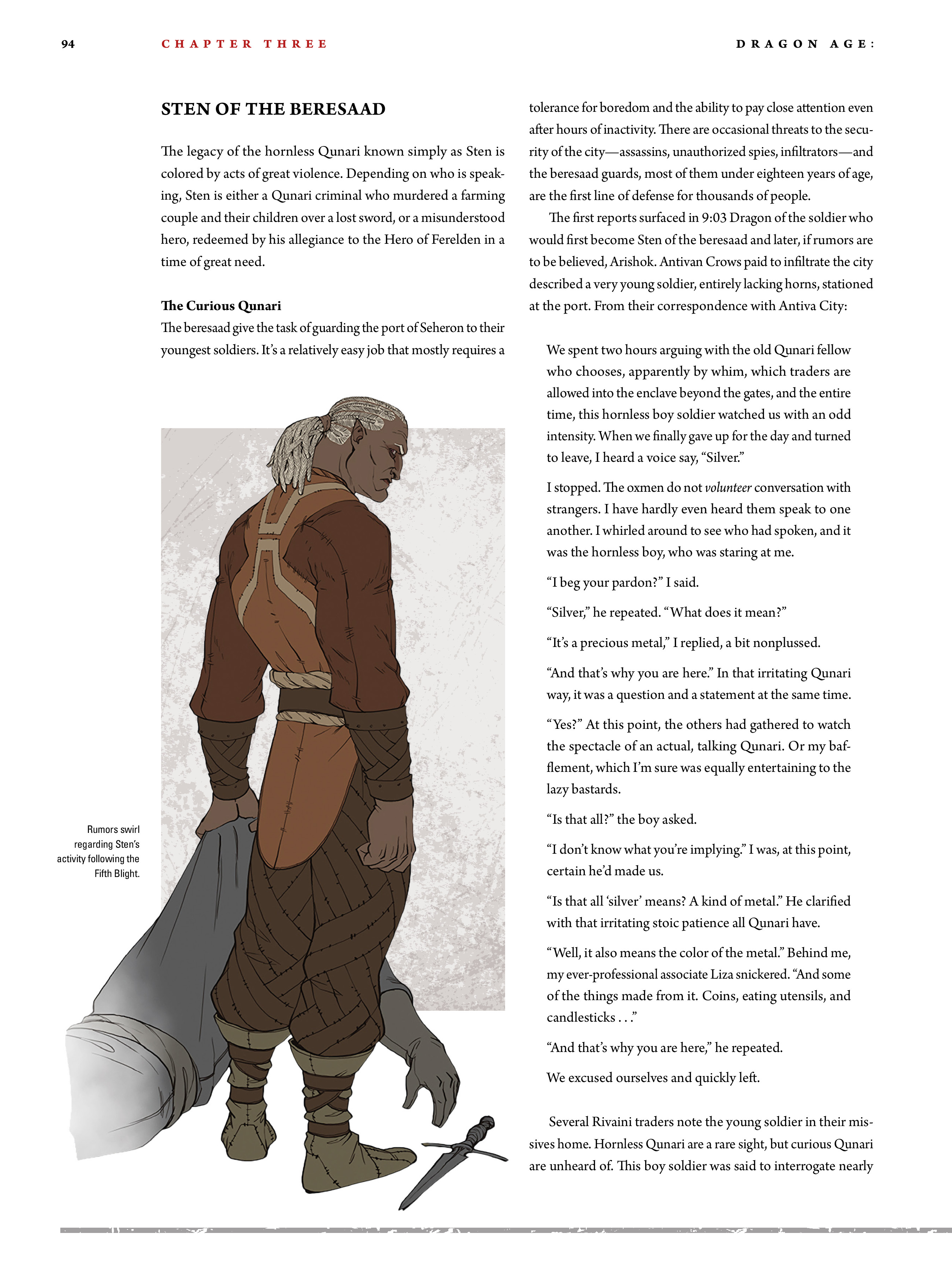 Read online Dragon Age: The World of Thedas comic -  Issue # TPB 2 - 90