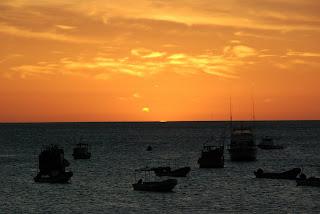 sunset over boats san juan del sur nicaragua