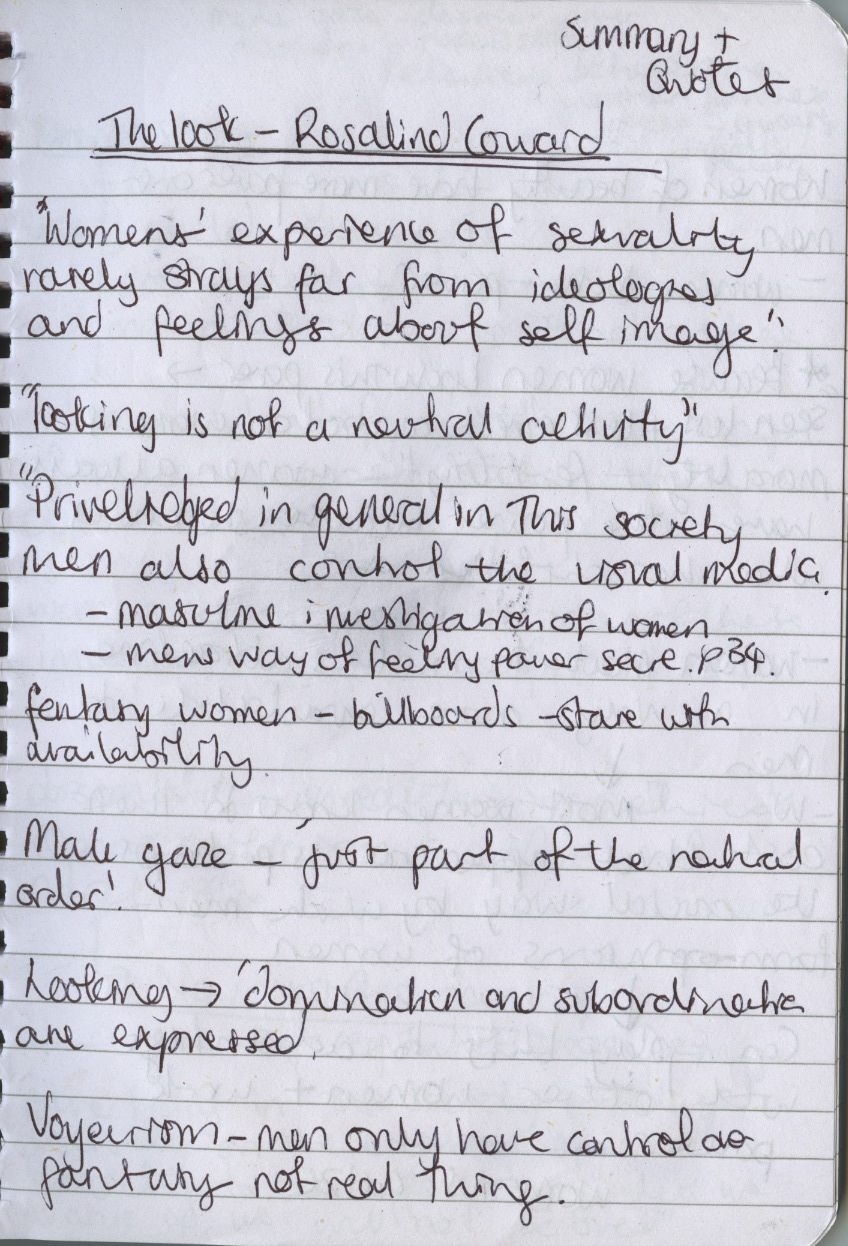 contextual and theoretical studies essay reading quotes to use rosalind coward the look essay john berger ways of seeing these are summaries of the texts selected quotes i want to use and a little points to raise