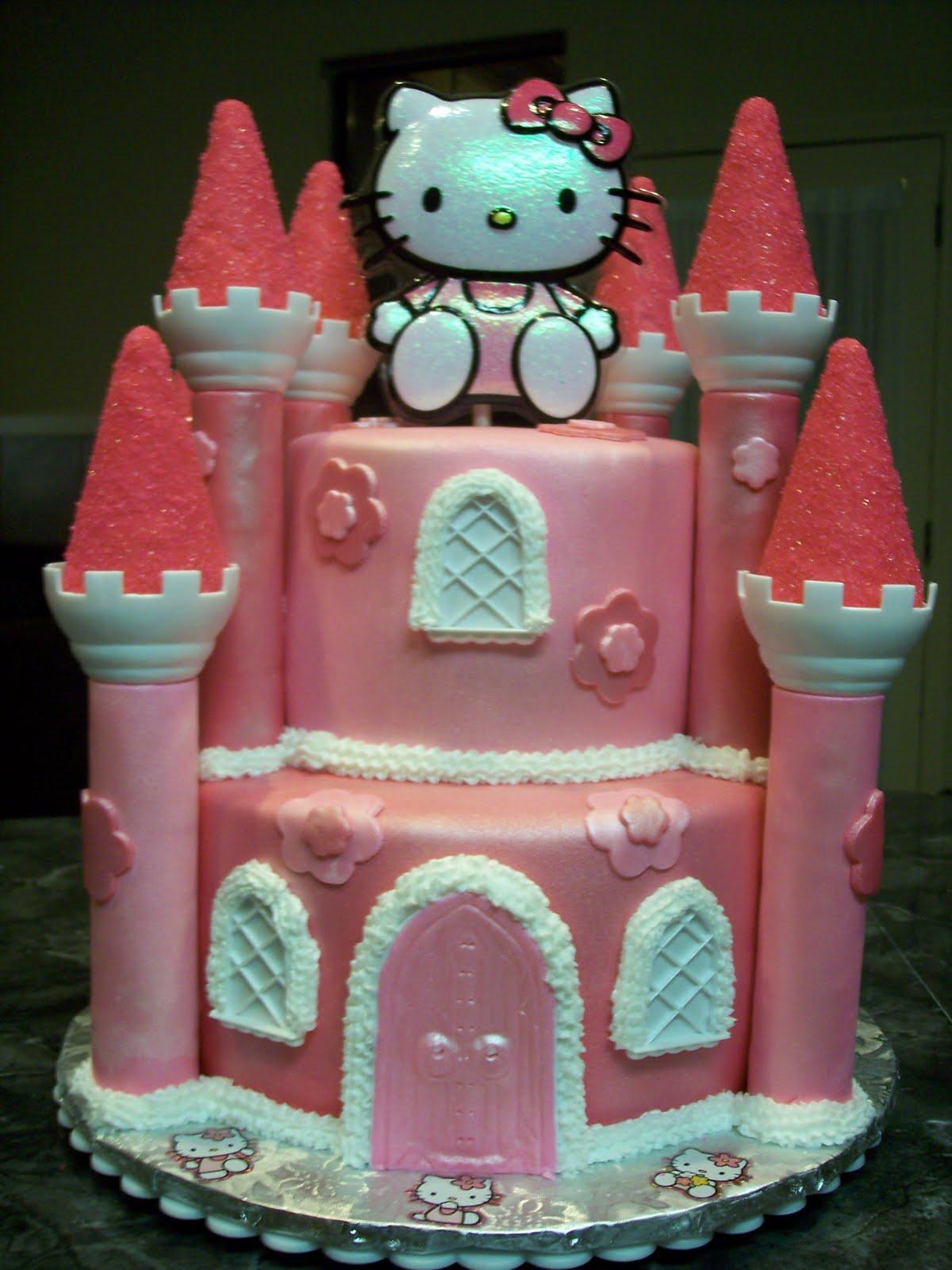 Mymonicakes Hello Kitty Castle Cake