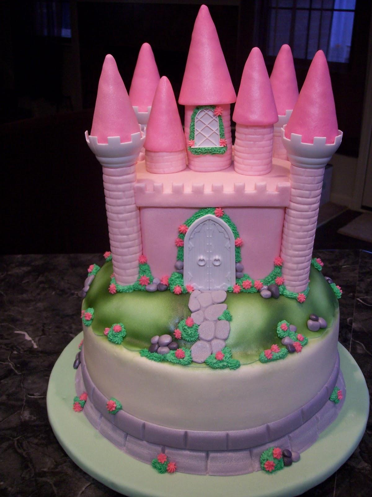 Mymonicakes Princess Castle Cake With Matching Smash Cake