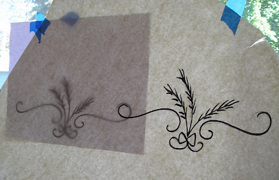 image transfer with repeating patterns