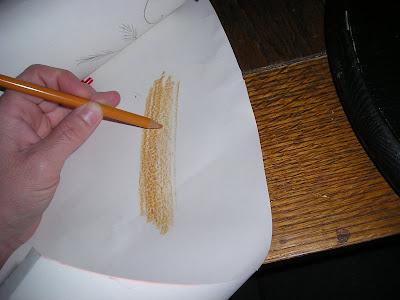 Pencil image transfer