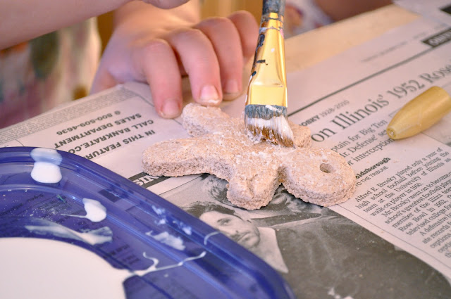 FUn with the kdis salt dough ornaments
