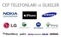Çeşitli cep telefonu markaları ve logoları