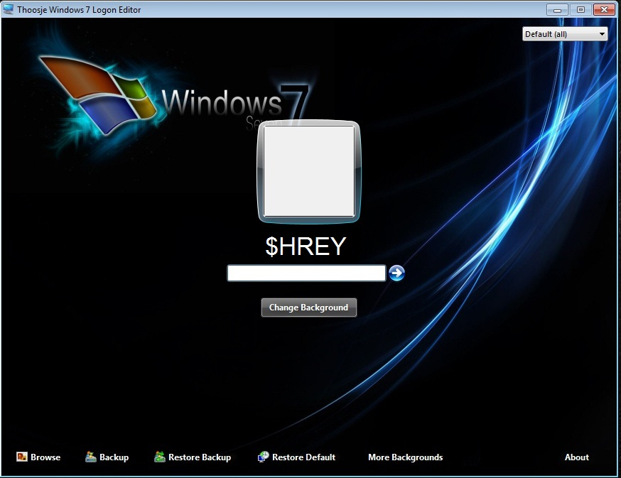 thoosje windows 7 logon editor