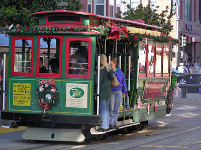San Francisco Cable Car on its regular route