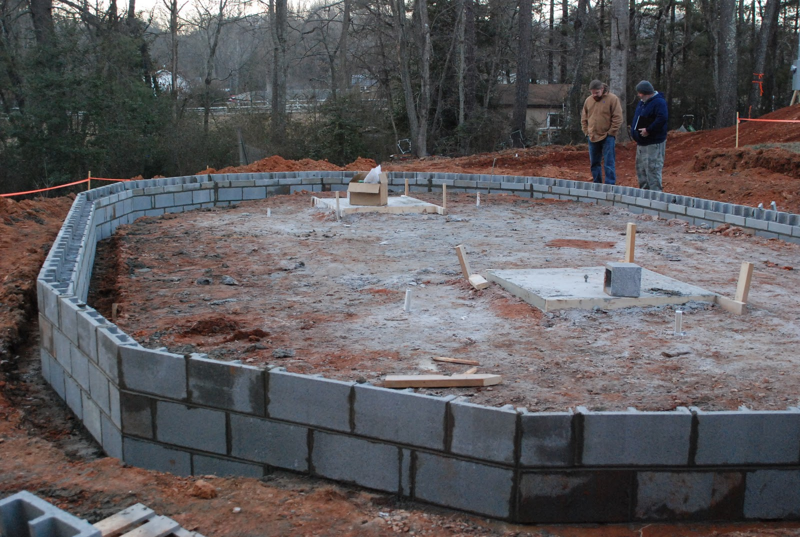 Passive Solar Residence Continuation Of Foundation