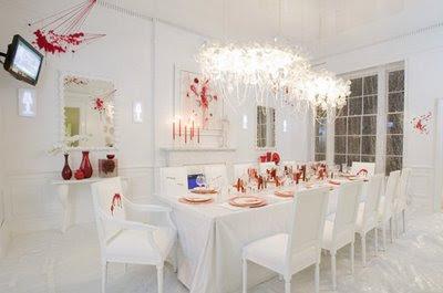 decorar uma sala para jantar
