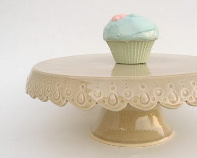 Carved Cake Stand