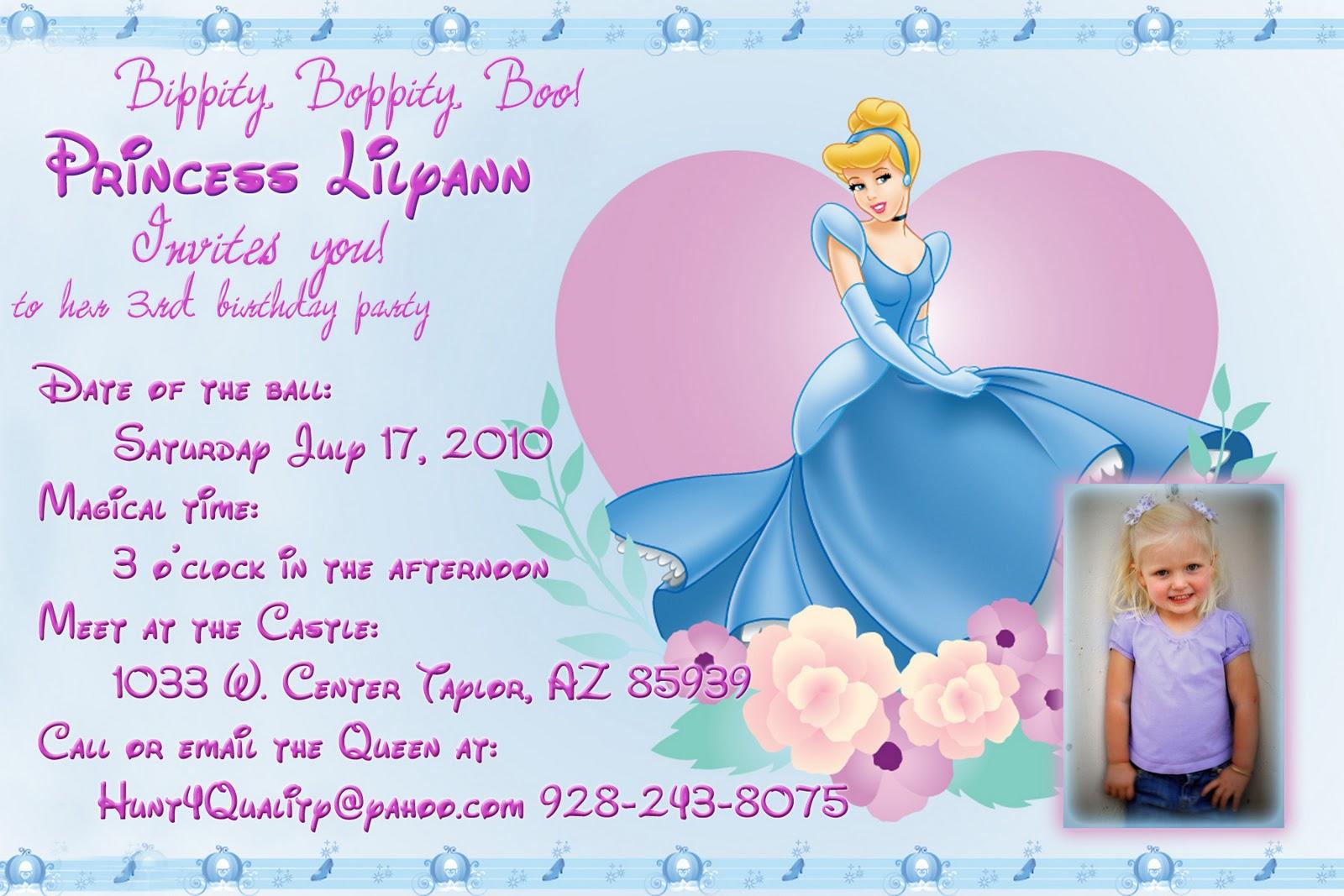cinderella invitation to the ball template - hunt 4 announcements and invites princess cinderella