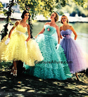 189cf398773 Couture Allure Vintage Fashion: Vintage 1950s Prom Dresses