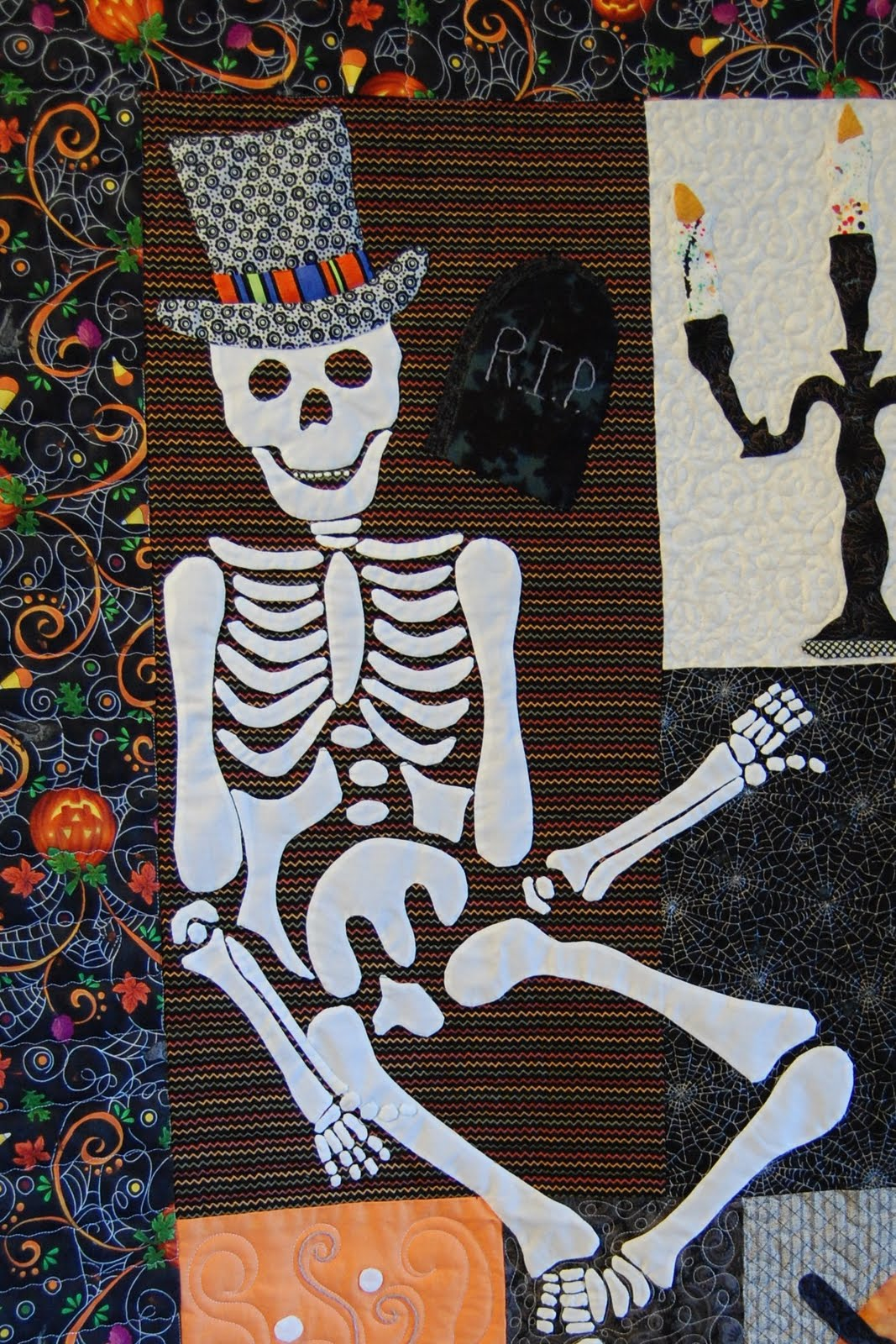 Am Slowly Pulling My Fabrics For This Quilt Perhaps If I Am  Halloween Pumpkin Quilt
